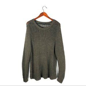 Eileen Fisher XL crochet sweater organic  cotton